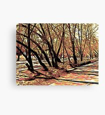 Landscape with the trees. Graphic novel style Canvas Print