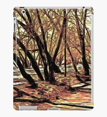 Landscape with the trees. Graphic novel style iPad Case/Skin