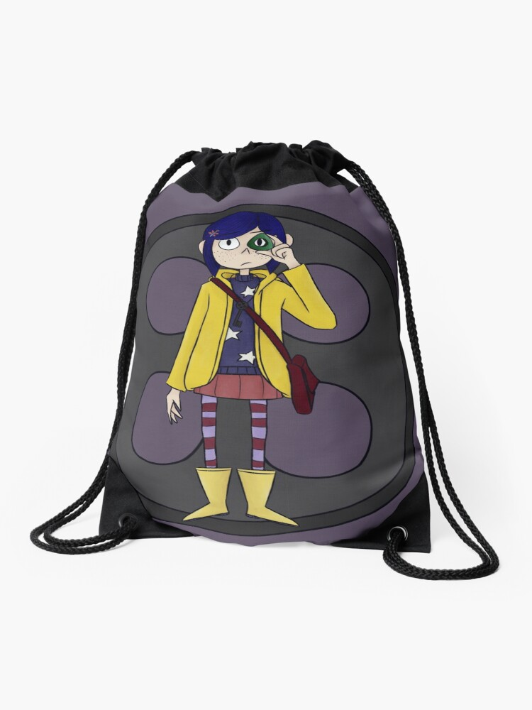Coraline Drawstring Bag By Atomicace Redbubble