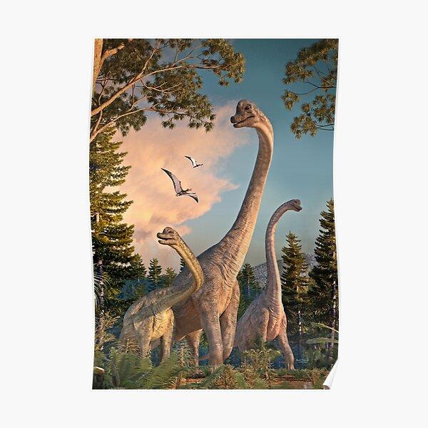 Brachiosaurus Walk Poster