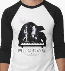 Shigatsu wa Kimi no Uso  Men's Baseball ¾ T-Shirt
