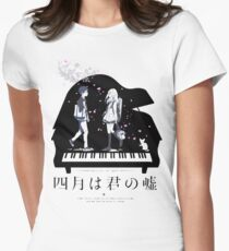 Shigatsu wa Kimi no Uso  Women's Fitted T-Shirt