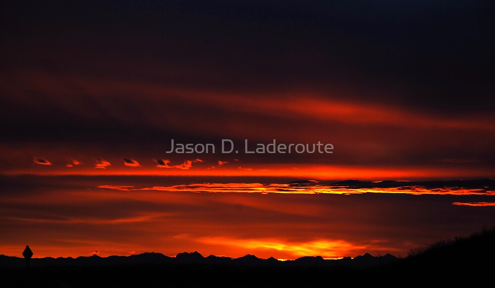 Rocky Mountian Sunsetting by Jason D. Laderoute