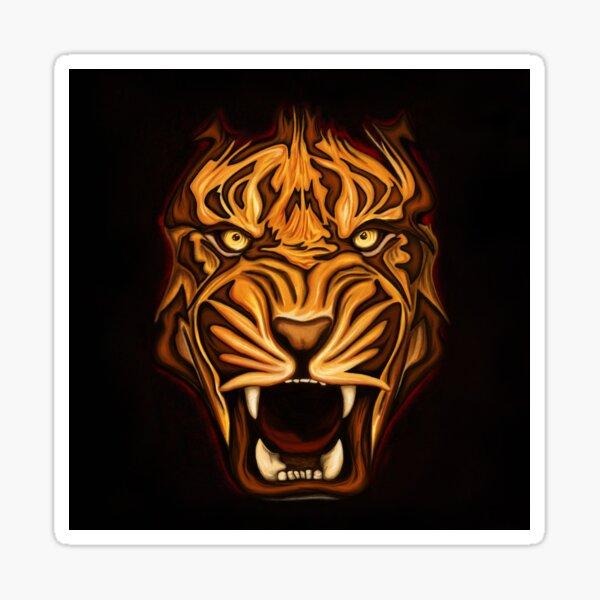 Tigre rugissant Sticker