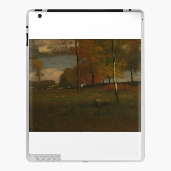 Near the Village, October by George Inness iPad Skin