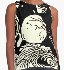 Black and White Roses Contrast Tank