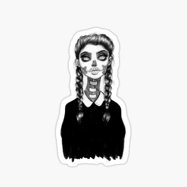 Skull Babe Sticker