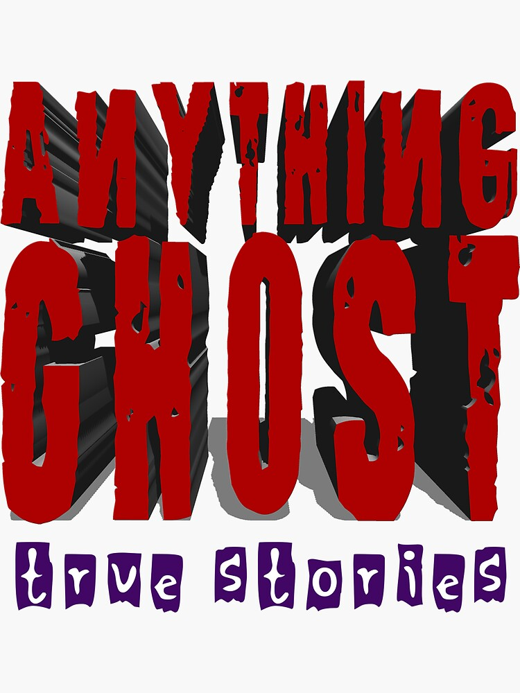Anything Ghost Logo - 3D Red by anythingghost