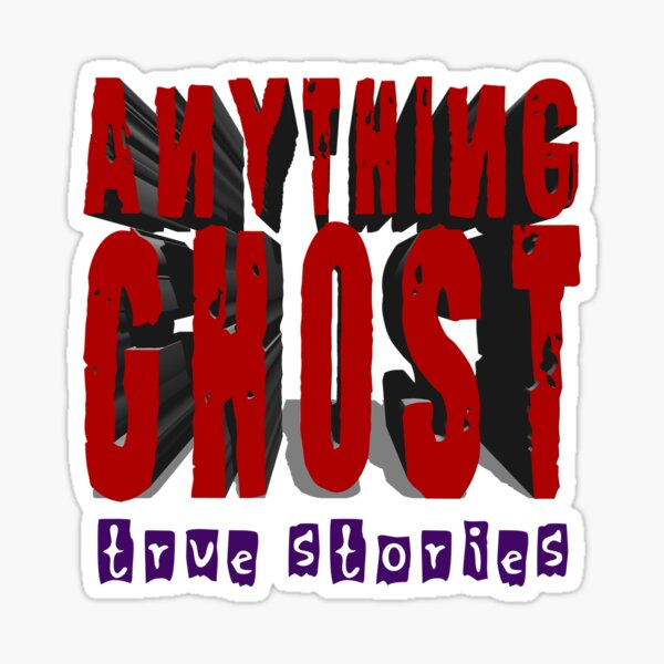 Anything Ghost Logo - 3D Red Sticker