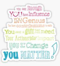 You Matter Manifesto Sticker Sticker