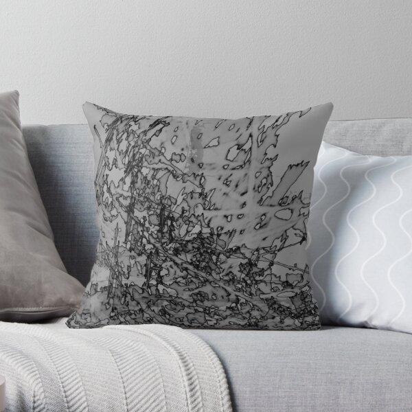 Edgy Grey Throw Pillow