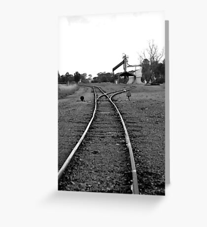 to the siding Greeting Card