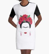 frida kahlo minimal illustration Mexico historical artis Graphic T-Shirt Dress
