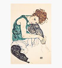 """Egon Schiele """"Seated Woman with Bent Knee"""", 1917"""" Photographic Print"""