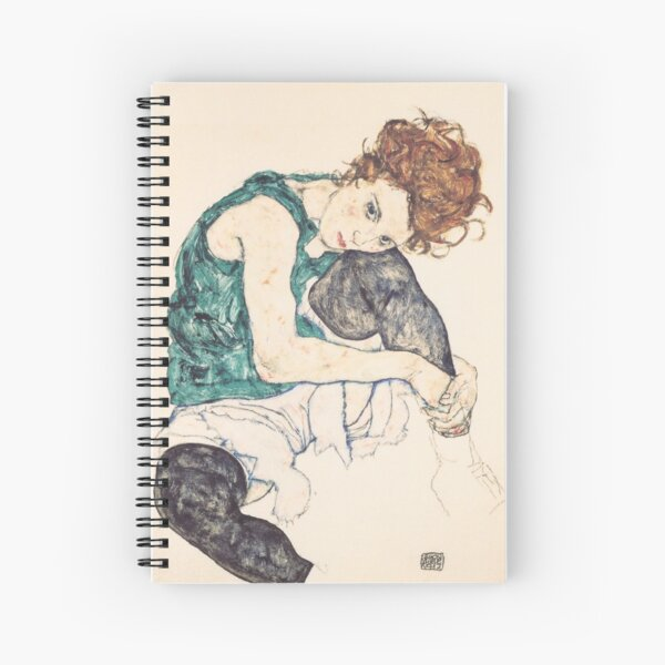 """Egon Schiele """"Seated Woman with Bent Knee"""", 1917"""" Spiral Notebook"""