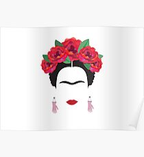 frida kahlo minimal illustration Mexico historical artis Poster