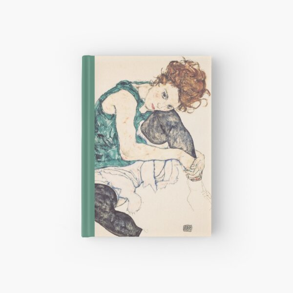 """Egon Schiele """"Seated Woman with Bent Knee"""", 1917"""" Hardcover Journal"""