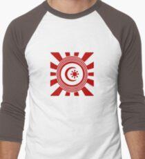 Mandala 34 Colour Me Red Men's Baseball ¾ T-Shirt