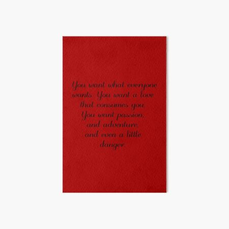 Damon Salvatore Quote (Bigger Design) Art Board Print