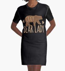 Crazy Bear lady Graphic T-Shirt Dress
