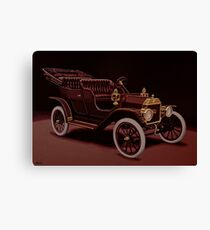 Ford Model T Touring 1908 Painting Canvas Print