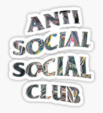 Anti Social Social Club Trippy Iridescent Wavy Logo Sticker