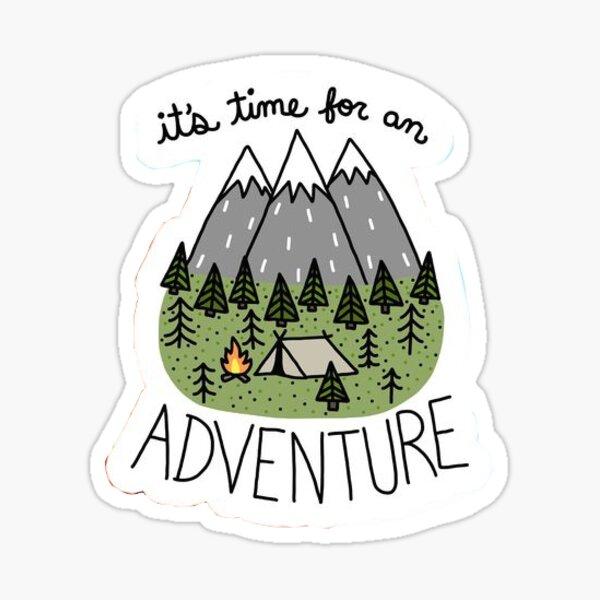 Es hora de una aventura Pegatina