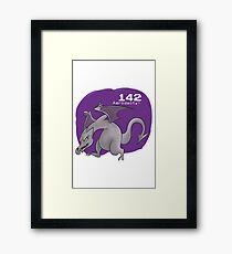 Pokemon #142: Aerodactyl Framed Print