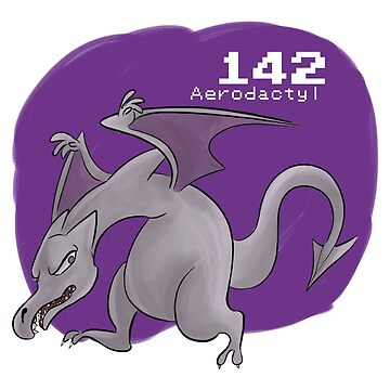 Pokemon #142: Aerodactyl by MichelleRakar