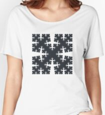 Cesàro Fractal - Square Filled 2 Women's Relaxed Fit T-Shirt