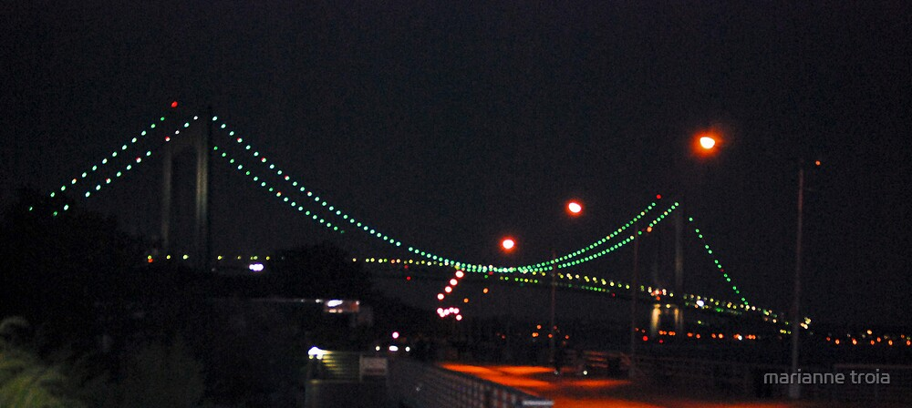 Verrazano-Narrows Bridge by marianne troia