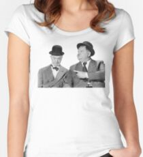 Laurel and Hardy Women's Fitted Scoop T-Shirt