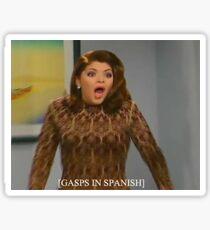 Gasps in Spanish Sticker