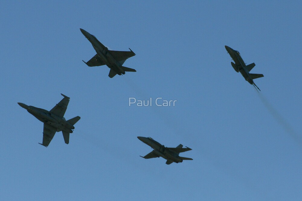 FA18 Hornet Formation by Paul Carr