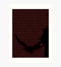 Mark of Cain (Demon - Imagine Dragons Lyrics) Art Print