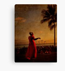 Sunset Hula Canvas Print