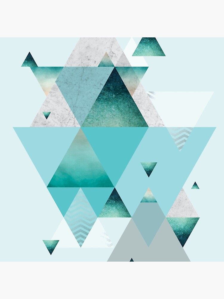 Turquoise Geometric by UrbanEpiphany