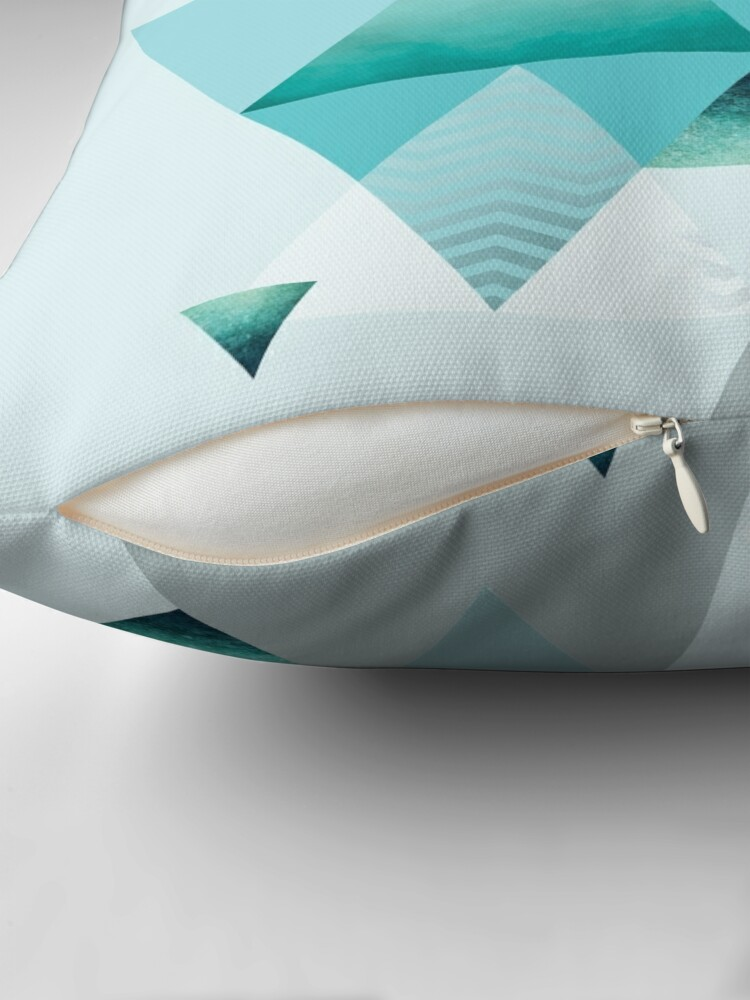 Alternate view of Turquoise Geometric Throw Pillow