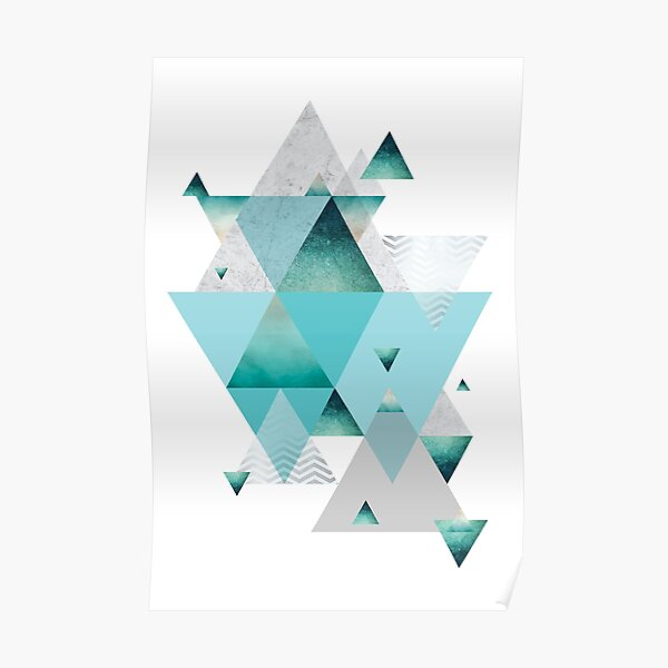 Turquoise Geometric Poster