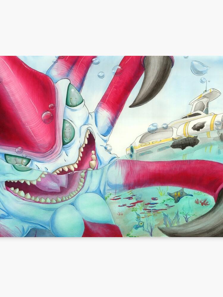 Subnautica Reaper Leviathan | Canvas Print