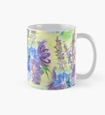 Watercolor Hand-Painted Purple Blue Daisies Daisy Flowers Classic Mug