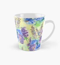 Watercolor Hand-Painted Purple Blue Daisies Daisy Flowers Tall Mug