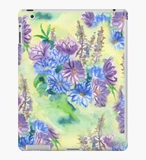 Watercolor Hand-Painted Purple Blue Daisies Daisy Flowers iPad Case/Skin