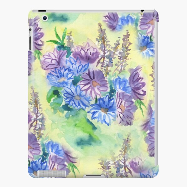 Watercolor Hand-Painted Purple Blue Daisies Daisy Flowers iPad Snap Case