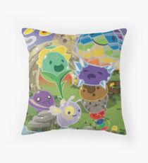 Slime Rancher All Slimes Collection Throw Pillow