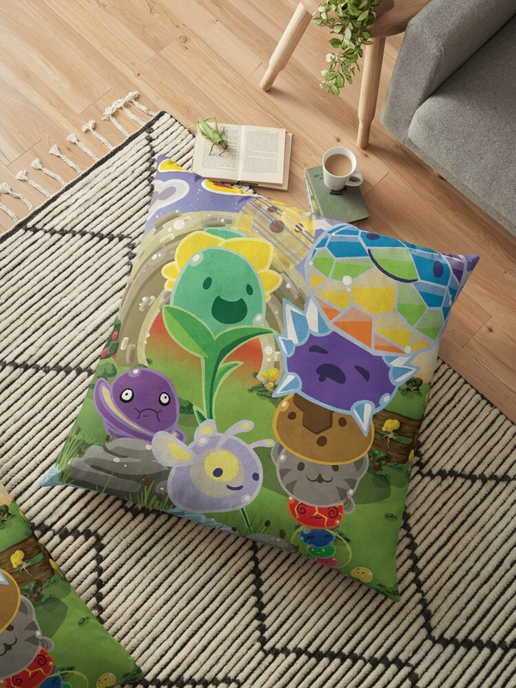 'Slime Rancher All Slimes Collection' Floor Pillow by PaisleyPortrait