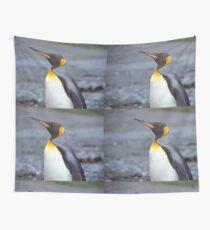 King Penguin Portrait Wall Tapestry