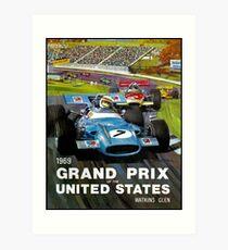 UNITED STATES GRAND PRIX: Watkins Glen Print Art Print