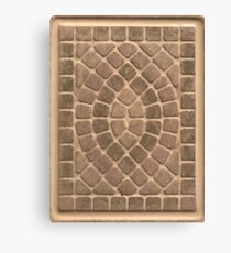 Stone tile earth tone pattern Canvas Print