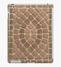 Stone tile earth tone pattern iPad Case/Skin